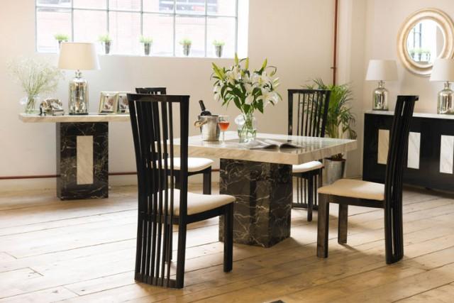 'Strasbourg' 5-Piece Square Dining Set; Sideboard, Harvey Norman