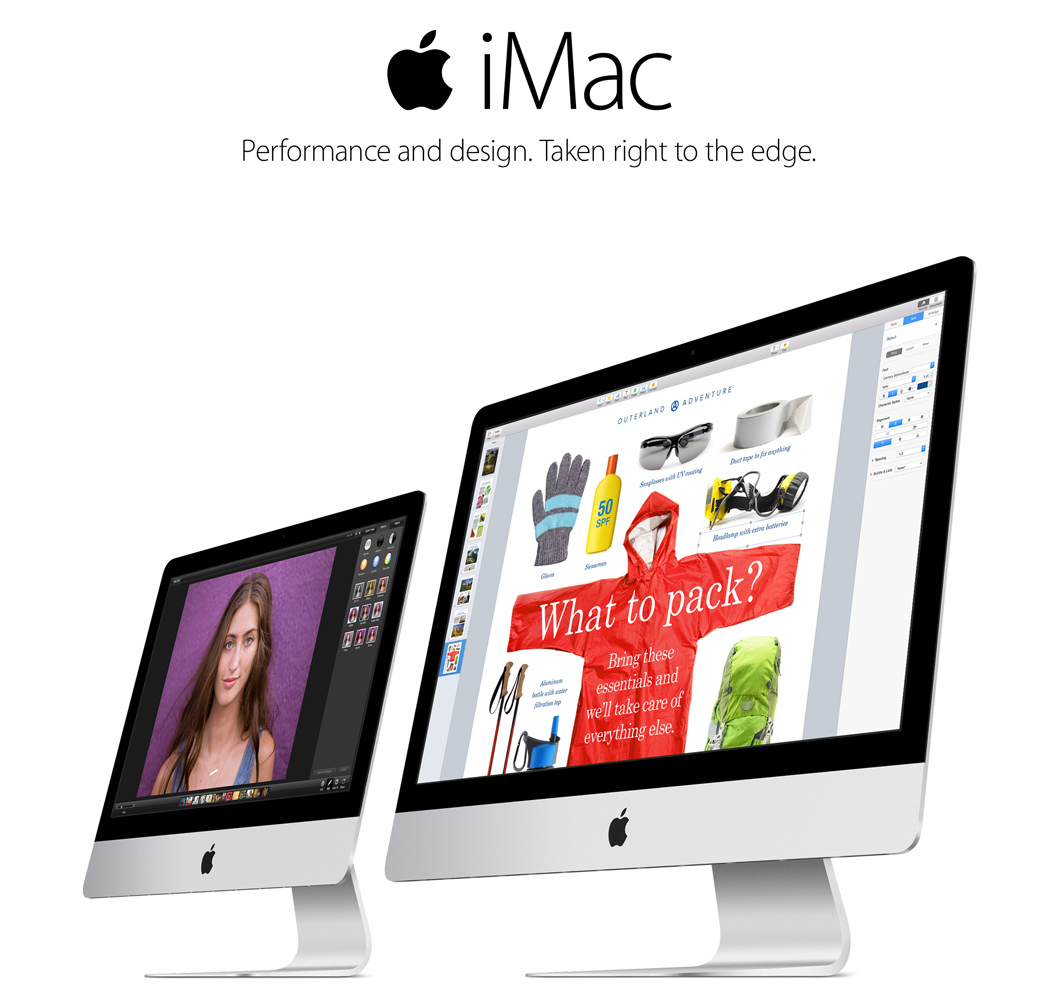 21.5 and 27 inch iMac