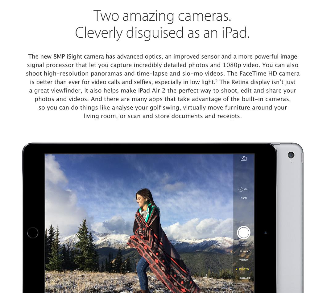 iPad Air 2 Dual Cameras