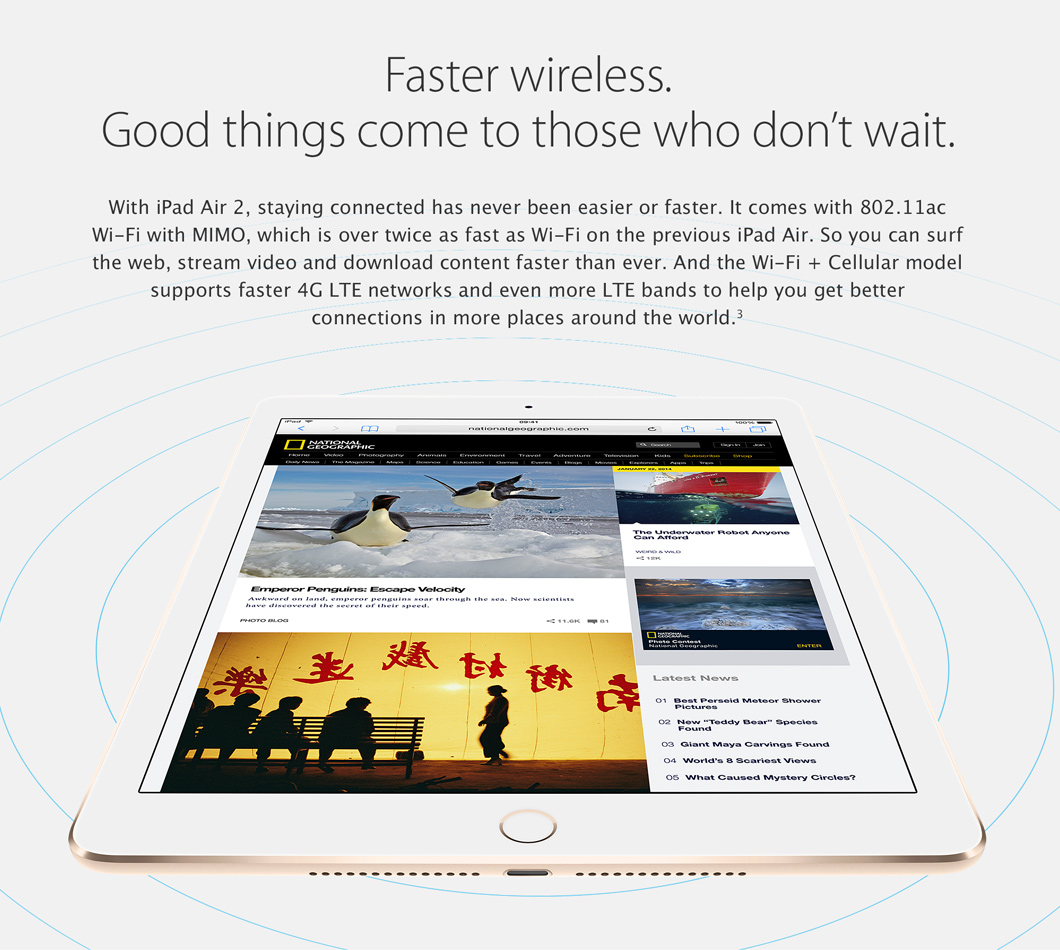iPad Air 2 with Faster Wireless
