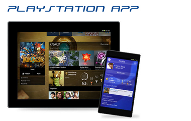 Playstation App on Tablet, iPad, Android,and iPhone